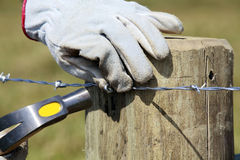 Construction of new fence Stock Image