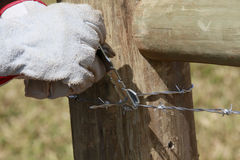 Construction of new fence Stock Images