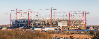 Construction of new football stadium in Rostov-on-Don. Russia Stock Image