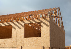 Construction of a new home Royalty Free Stock Photos