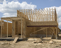 Construction of a new home. New home construction in the country Royalty Free Stock Photos