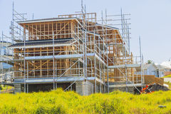 Construction of new home, Auckland, New Zealand Royalty Free Stock Photos