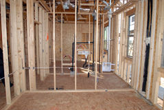 Construction Of A New Home Being Built. Royalty Free Stock Photography