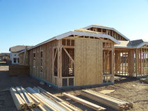 Construction Of A New Home Being Built. Royalty Free Stock Photos