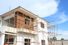 Construction of new home building Stock Images