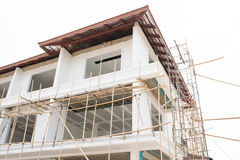 Construction of new home building Stock Photo