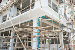 Construction of new home building Stock Photography