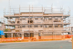Construction of new home building Stock Image