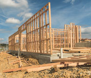 Construction of new home building, New Zealand Stock Photography
