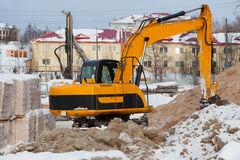 Construction of a new home. preparatory work Royalty Free Stock Image