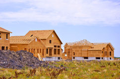 Construction of new homes Royalty Free Stock Photos