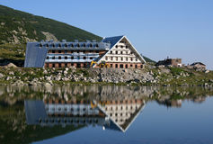 Construction of new hotel in Rila Stock Images