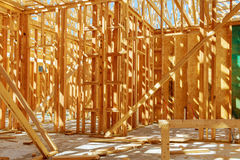 Construction of a new house Royalty Free Stock Image