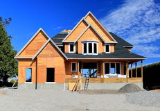 Construction of a new house Royalty Free Stock Photo