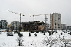 Construction of new houses in Lithuania Vilnius city Fabijoniskes district Stock Images