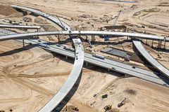 Construction of new Interchange Stock Image