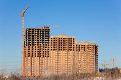 Construction of new large house Stock Image