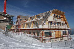 Construction of chalet Stock Photography