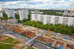 Construction of a new metro line in Moscow Royalty Free Stock Image