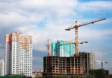 Construction of new microdistrict Stock Image