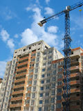 Construction of new modern apartments house Royalty Free Stock Photos