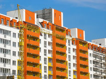 Construction of new modern apartments house Royalty Free Stock Photography