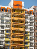 Construction of new modern apartments house Royalty Free Stock Images