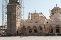 Construction of New Mosque. Building of New Mosque in Hurghada, Egypt Royalty Free Stock Photo