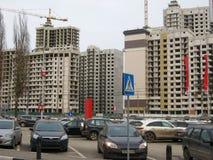 Construction of new multi-storey house royalty free stock image
