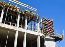 Construction of a new office building. Outdoor royalty free stock image