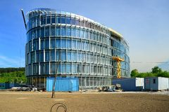 Construction of new office in Vilnius city Stock Photos