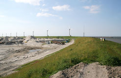 Construction of the new port called Beatrixhaven Royalty Free Stock Image