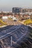 Construction of a new railway line Royalty Free Stock Photos