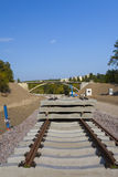 Construction of a new railway line Royalty Free Stock Photography