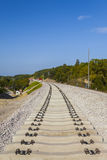 Construction of a new railway line Stock Image