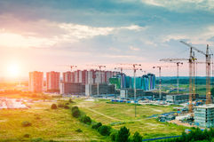 Construction of a new residential houses Royalty Free Stock Images