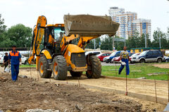 Construction of the new road Stock Photography