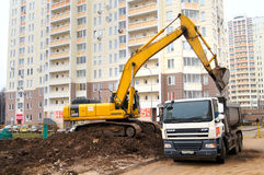 Construction of the new road Royalty Free Stock Photography