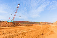 Construction New Road Earthworks Landscape Royalty Free Stock Images