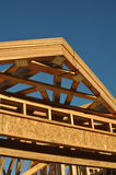Construction of New Roof on Home Royalty Free Stock Image