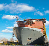 The construction of a new ship Royalty Free Stock Photography