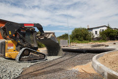 Construction of a new street Stock Image