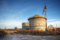 Construction of new treatment plants Royalty Free Stock Image