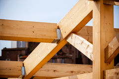 Construction of new wooden house Stock Image