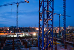 Construction by night Stock Images