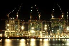 Construction at night. Construction at night in Singapore Stock Photos