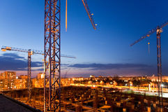Construction by night Royalty Free Stock Images