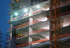 Construction, night scene Royalty Free Stock Images