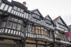 Construction noire et blanche de Tudor image libre de droits