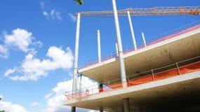 Construction of the Nuevos Encantes or Fira de Bellcaire. De Barcelona Stock Photos
